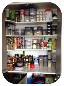 Six hours later the end result! A usable pantry where goods are now easy to see and find :-)