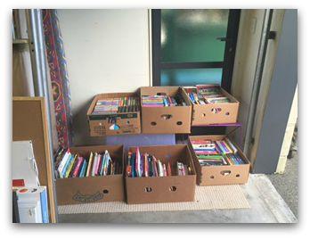 Kids books grouped together…..