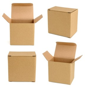 11011395 - collection of cardboard boxes isolated on white background