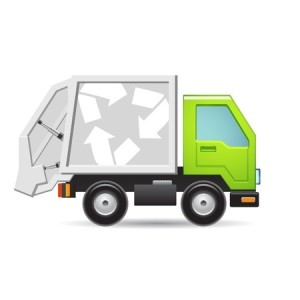 11660617 - recycling truck icon